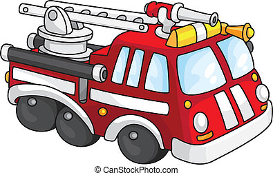 An illustration of a fire engine