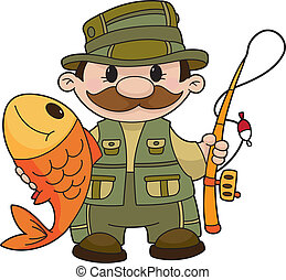 An illustration of a fisherman