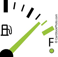 Illustration of a Fuel Gauge on White Background - An...