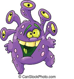 funny monster - An illustration of a funny monster