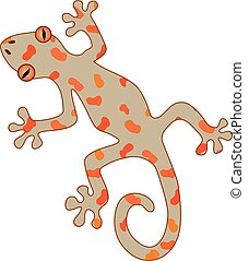 An illustration of a gecko
