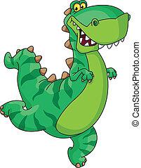 hurry dinosaur - An illustration of a hurry dinosaur