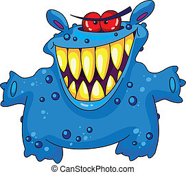 laughing monster - An illustration of a laughing monster