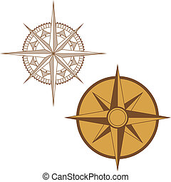 Illustration of a Map Compass on White Background - An...