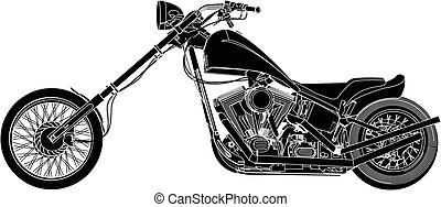 An illustration of a motorbike