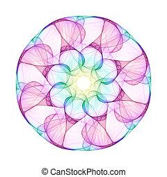 An illustration of a nice colorful mandala