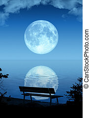 full moon - An illustration of a nice full moon