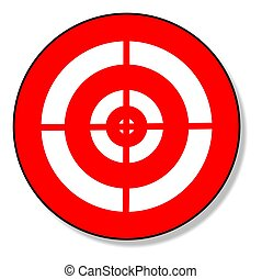 an illustration of a red and white target