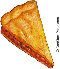 An illustration of a slice of pie