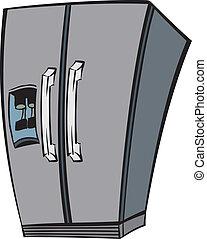 fridge - An Illustration of a stainless steel fridge