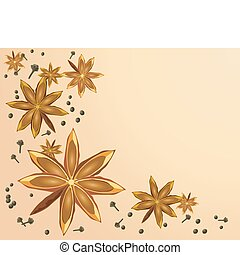 star anise - an illustration of a star anise design with ...