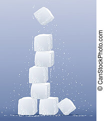 sugar cube tower - an illustration of a sugar cube tower...