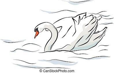 an illustration of a swan