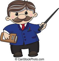 An illustration of a teacher