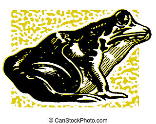 An illustration of a toad