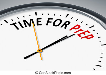 clock with text time for PrEP