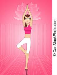 Woman in yoga meditation