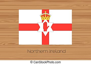 Illustration of a wooden floor with the flag of Northern Ireland