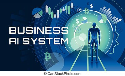 An illustration of an AI business system