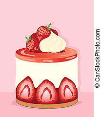 strawberry cheesecake - an illustration of an individual...