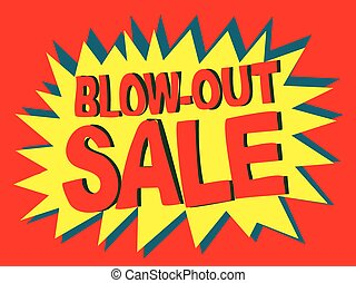 An illustration of Blowout Sale Vector Banner