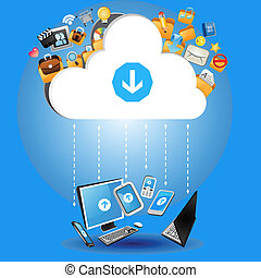 Cloud Computing Concept - An Illustration of Cloud Computing...