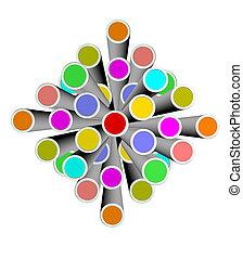 An illustration of colorful 3d design element