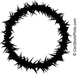 Crown of Thorns - An illustration of Crown of Thorns (Vector...