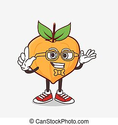 Eggfruit cartoon mascot character in geek style