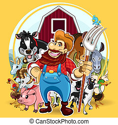 Farm Life - An Illustration of Farm Life. Useful As Icon,...