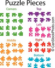 Illustration of Jigsaw puzzle blank parts - An Illustration...