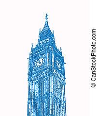 London - An illustration of London\\\'s Big Ben.