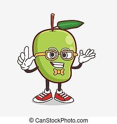 Mango Fruit cartoon mascot character in geek style