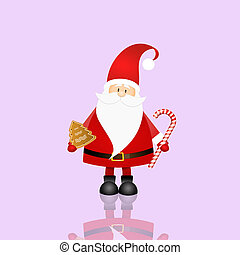an illustration of Santa Claus in Christmas Day