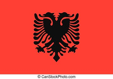 Illustration of the flag of Albania