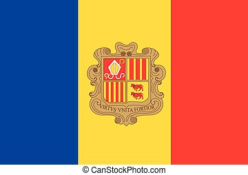 Illustration of the flag of Andorra