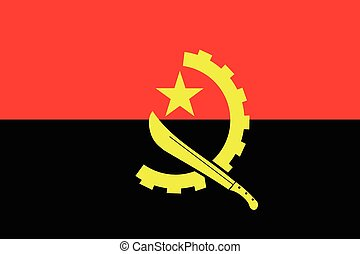 Illustration of the flag of Angola