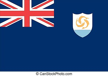 Illustration of the flag of Anguilla