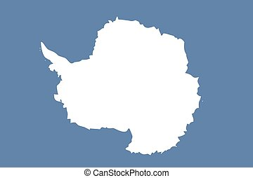Illustration of the flag of Antartica - An Illustration of...