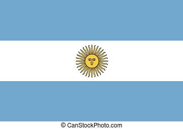 Illustration of the flag of Argentina