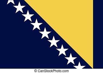 Illustration of the flag of Bosnia