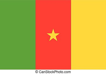 Illustration of the flag of Cameroon