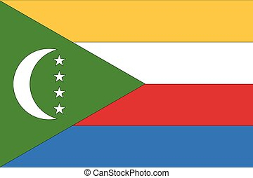 Illustration of the flag of Comoros