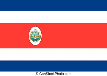 Illustration of the flag of Costa Rica - An Illustration of...
