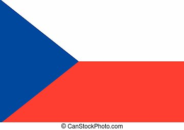 Illustration of the flag of Czech Republic