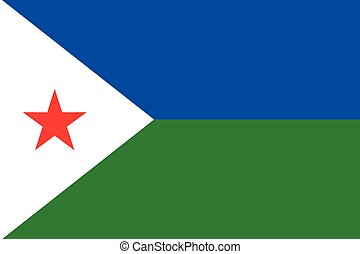 Illustration of the flag of Djibouti
