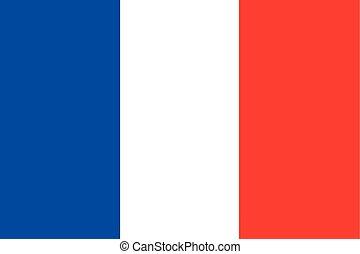 Illustration of the flag of France