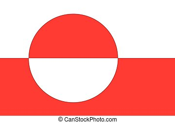 Illustration of the flag of Greenland