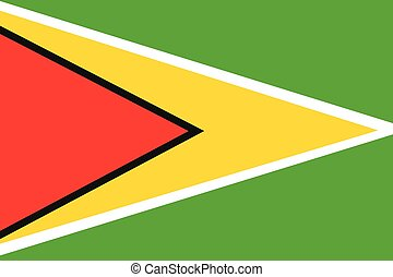 Illustration of the flag of Guyana