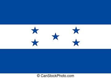 Illustration of the flag of Honduras